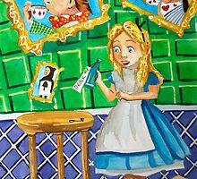 Alice in wonderland, drink me painting by gordonbruce