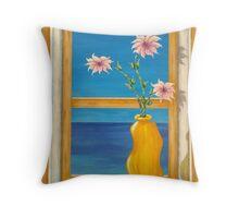 Yellow Vase Throw Pillow