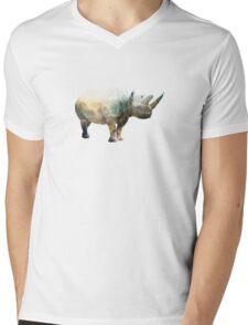 RHYNO SPINE Mens V-Neck T-Shirt