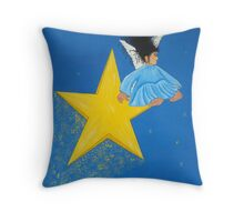 Ride A Shooting Star Throw Pillow