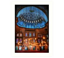 HDR: Blue Mosque, Istanbul, Turkey (view larger) Art Print