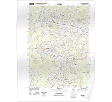 Massachusetts  USGS Historical Topo Map MA Maynard 20120613 TM Poster