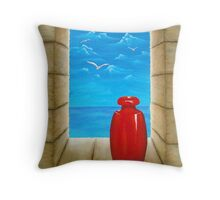 Sea View From Castle Throw Pillow