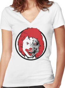 Ronnie McTerminator Women's Fitted V-Neck T-Shirt