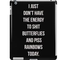No Energy iPad Case/Skin