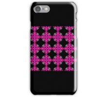 Hot pink and black, geo geometric pattern, bold design iPhone Case/Skin