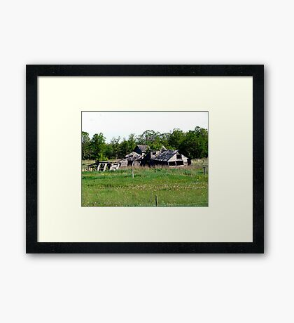 Abondoned on the Prairies Framed Print
