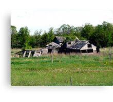 Abondoned on the Prairies Canvas Print