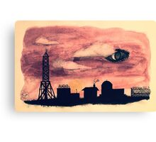Welcome to Night Vale Silhouette  Canvas Print