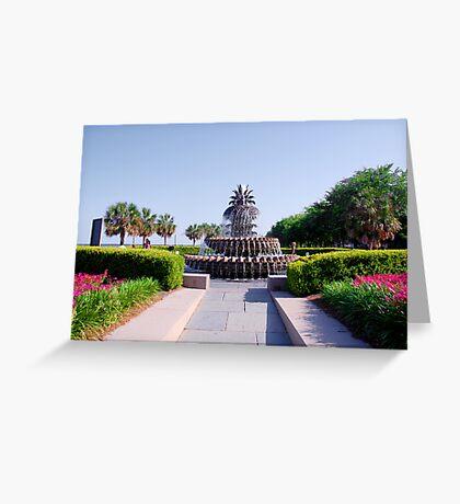Pineapple Fountain in Charleston Greeting Card