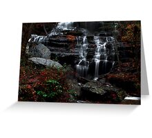 The falls of Issaqueena Greeting Card