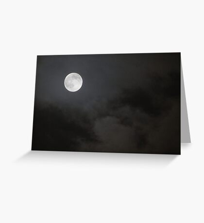 full moon 09/22/10 Greeting Card
