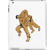 Judo Combatants Throw Front Etching iPad Case/Skin