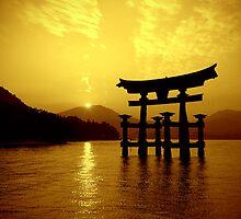 Sunset at Torii Gate by Erisgo