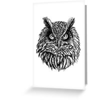 Owl Sketch Greeting Card