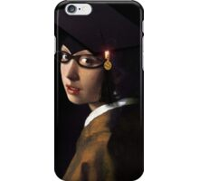Girl with the Graduation Cap & Glasses iPhone Case/Skin