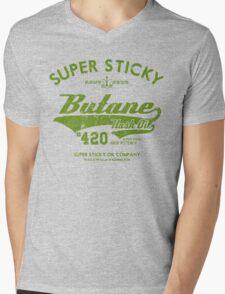 Retro Butane Hash Oil Mens V-Neck T-Shirt