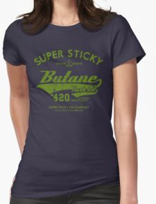 Retro Butane Hash Oil Womens Fitted T-Shirt