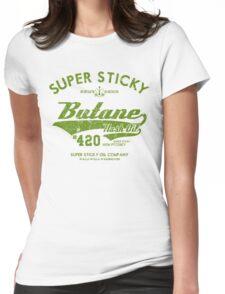 Retro Butane Hash Oil Womens Fitted T-Shirt