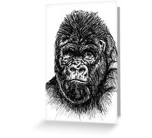 Gorilla 2 Sketch  Greeting Card