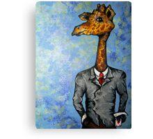 Card-Shark: Gambling Giraffe Canvas Print