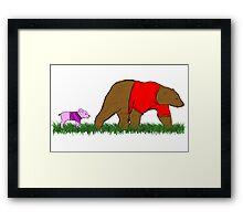 Winnie, and Piglet Framed Print