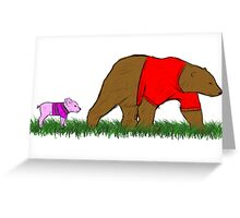 Winnie, and Piglet Greeting Card