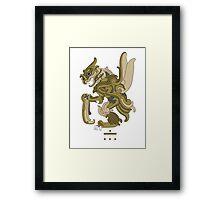 Scyther Pokemayan Framed Print
