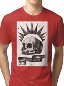 Chloe's Shirt - Misfit Skull Tri-blend T-Shirt