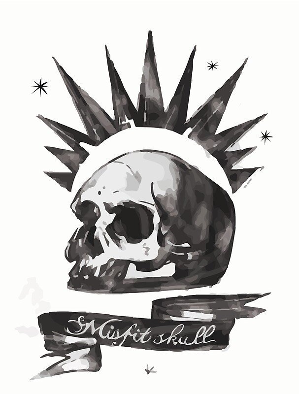 Misfits Skull Tattoo Design