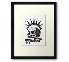 Chloe's Shirt - Misfit Skull Framed Print
