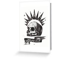 Chloe's Shirt - Misfit Skull Greeting Card