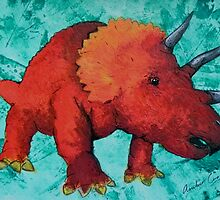 Triceratops  by Amber Cross