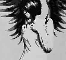 Girl with Angel Wings by Sarah McDonald