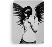 Girl with Angel Wings Canvas Print