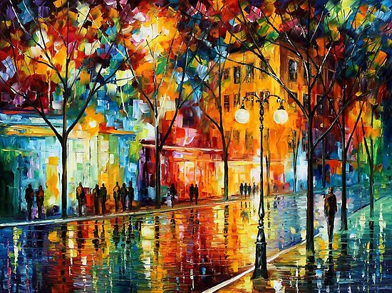 The Tears Of The Fall - Original Art Oil Painting On Canvas By Leonid Afremov by Leonid  Afremov
