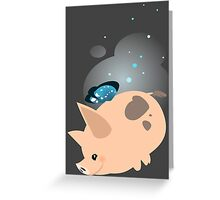 Periwinkle the Butterpig Greeting Card