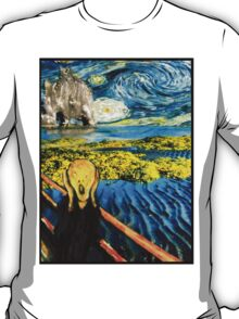 The Scream on the Starry Night T-Shirt
