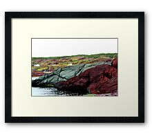Red Rock Green Rock Framed Print