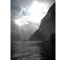 Milford Sound Sunrays Photographic Print