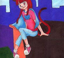 super cat girl  by slothishere