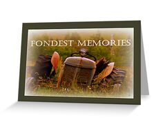 A Card For Memories Greeting Card