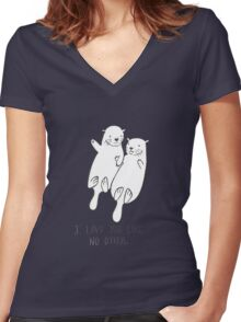 I Love You Like No Otter Women's Fitted V-Neck T-Shirt