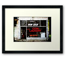 'Five Star Laundry' Framed Print