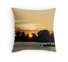 summer sunset on the st. lawrence Throw Pillow