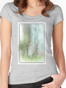 Water Side Peace © Vicki Ferrari Photography Women's Fitted Scoop T-Shirt
