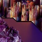 Crystal mountain in Abstract Universe by Bluesrose