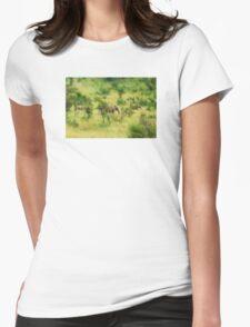 lady elephant walk, pilanesburg Womens Fitted T-Shirt