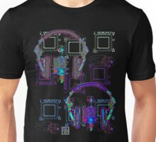 """Headphones Listening""© Unisex T-Shirt"