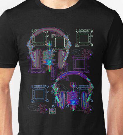 """Headphones Listening""© Unisex T-Shirt"